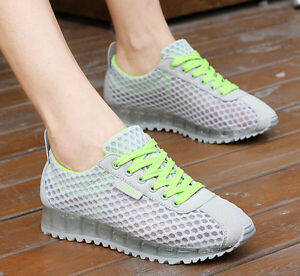 Free-Womens-Breathable-Mesh-Flat-Casual-Athletic-Sport-Lace-Up-Running-Shoes-New