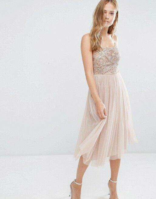 Maya Midi Party Prom Dress with Tulle Skirt and Embellishment Embellishment Embellishment UK 8 12 14 | Verrückter Preis