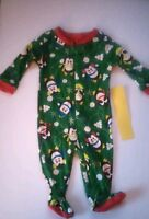 Children's Place Penguin Print Sleeper 0-3 Months 100% Cotton