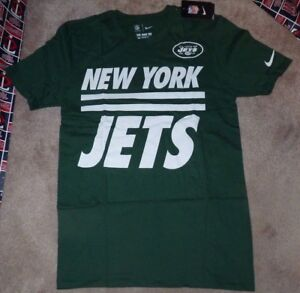 NEW NIKE NFL NY New York Jets Football T Shirt Men S Small Green NEW ... 19941def2