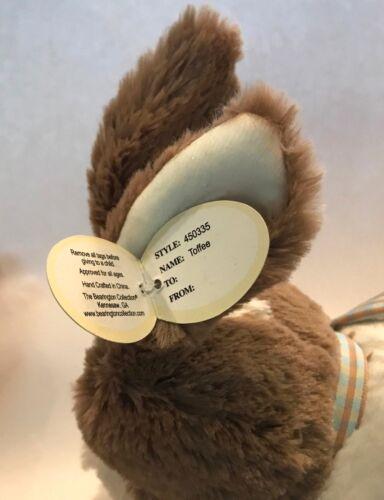 "NEW The Bearington Collection Beige White Bunny Rabbit Plush 10/"" Long"