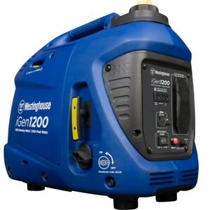 Westinghouse 1,200-W Super Quiet Portable Gas Powered Inverter Generator Home RV