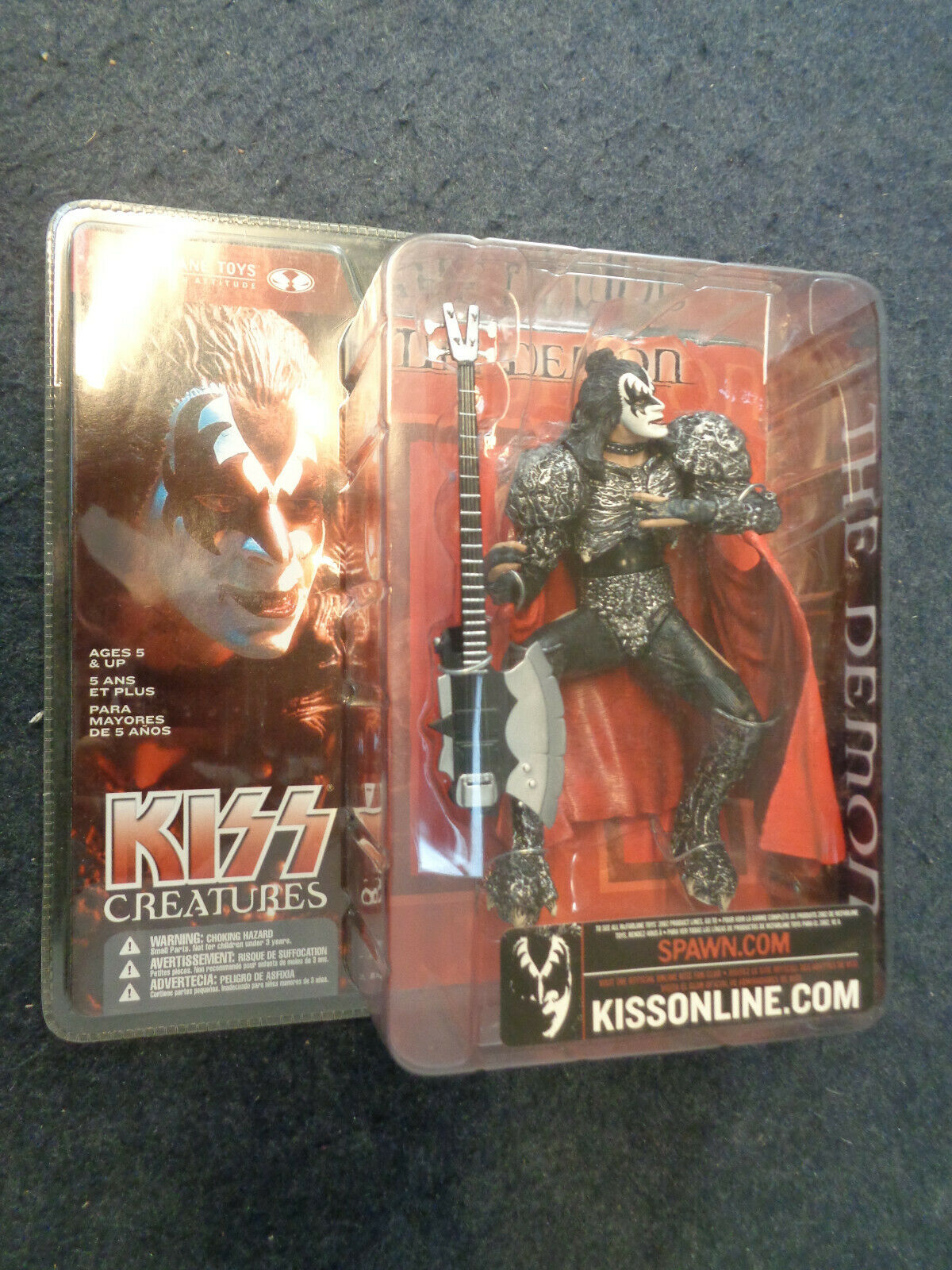 KISS CREATURES THE DEMON -  MCFARLANE TOYS SPAWN - SEALED - A17 - FLG
