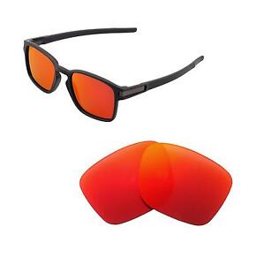 af5bde58ef Image is loading Walleva-Polarized-Fire-Red-Replacement-Lenses-For-Oakley-