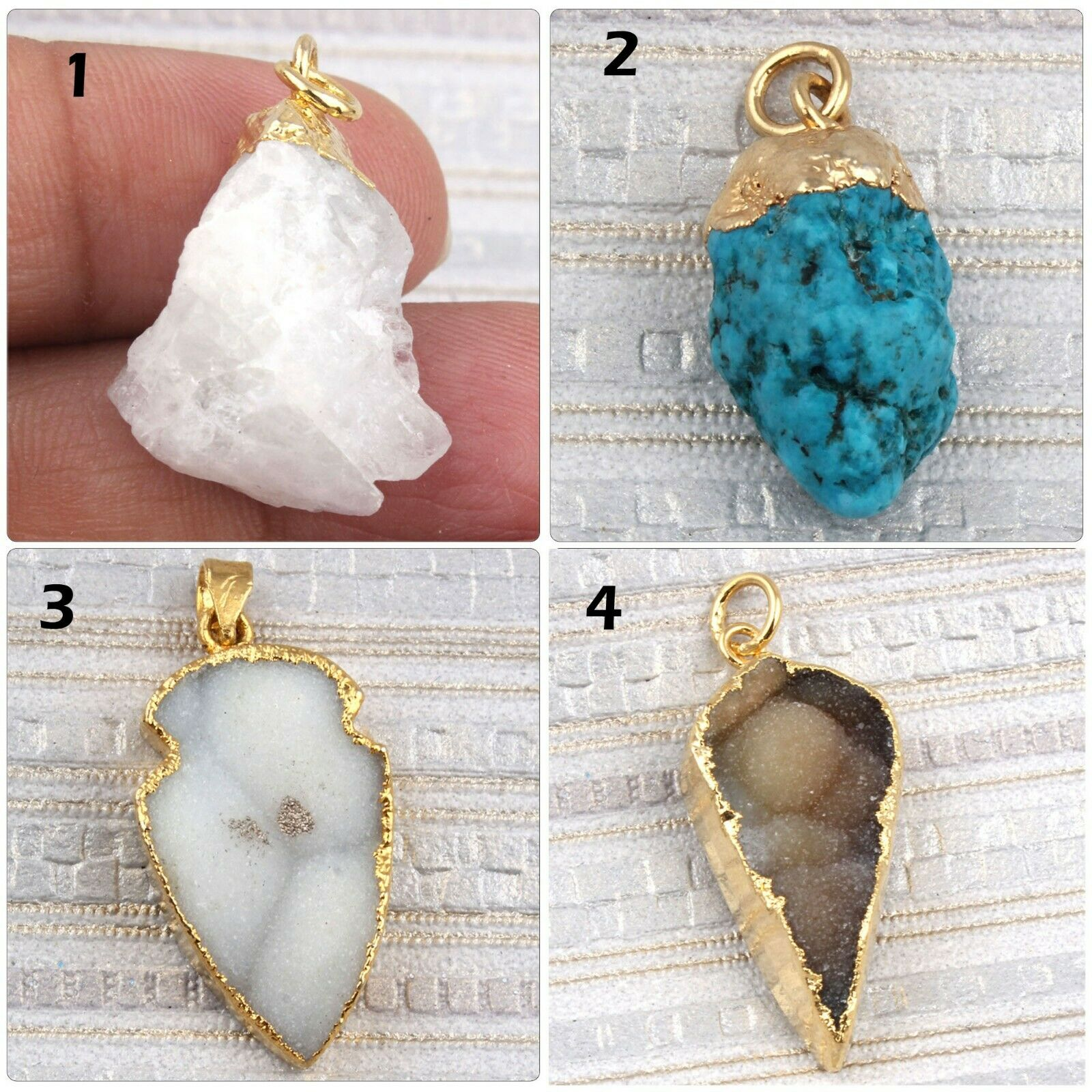 Natural Raw Moonstone Turquois...