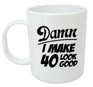 Image Is Loading Damn 40 Mug 40th Birthday Gifts Presents Gift