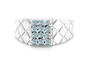 Blue-Aquamarine-925-Sterling-Silver-Ring-Natural-Cocktail-Band-Size-4-11