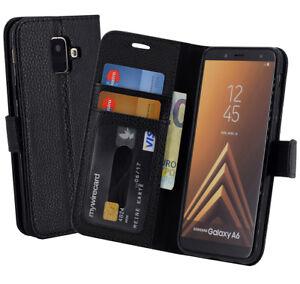 Samsung-Galaxy-A6-2018-Huelle-Tasche-Schutzhuelle-Book-Style-Handytasche-TOP-Case