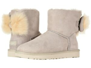 NEW WOMEN UGG 2019 FLUFF BOW MINI FASHION BOOTS WILLOW AUTHENTIC ... a75e34764