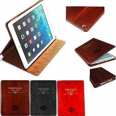 MOSISO Retro Vintage Flip Stand Cover Smart Pu Leather Case For iPad Pro 9.7""