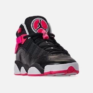 new arrival f4265 fe523 Details about Jordan 6 RINGS (GS) Grade School Black/Hyper Pink 323399-061  Shoes