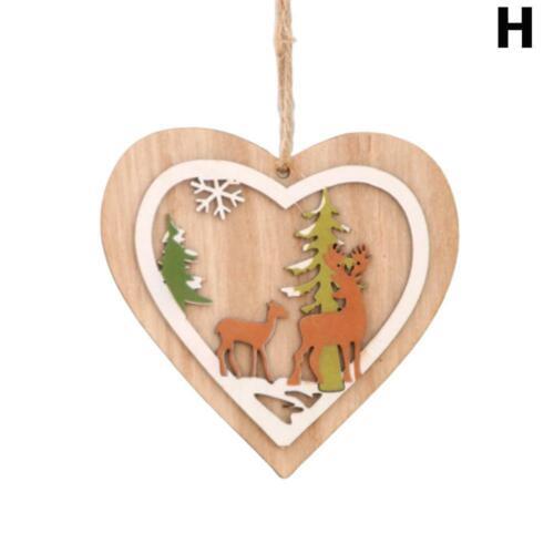 3D DIY Weihnachtshölzerne Verzierungs-Weihnachtsbaum-hängende Anhänger