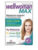Vitabiotics Wellwoman Max (84 Tablets) Health Vitality & Mental Performance