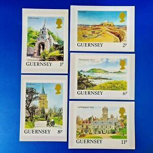 Set of 5 PHQ Stamp Postcards Guernsey Set No.6 1986 Definitive Issue OC9