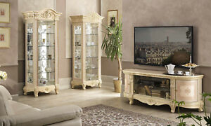 Wohnzimmer Komplett Hochglanz Barockstil Italienisches Design