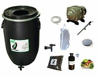 Complete Kit 120l Black For Tea Compost Aerated : Pump Filter Tea Compost Brewer