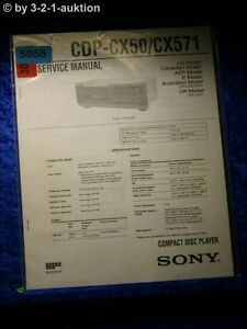 Sony CDP-CX50 CDP-CX571 CD Player Owners Manual