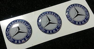 3 Adesivi Resinati Sticker 3D MERCEDES 10 mm