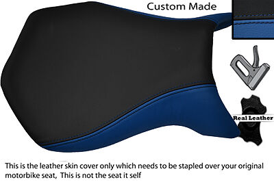 BLUE & BLACK CUSTOM FITS MV AGUSTA F4 99-09 750 1000 FRONT LEATHER SEAT COVER