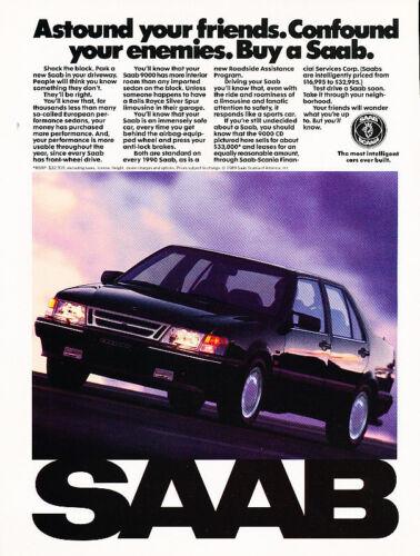 1990 Saab 9000CD Sedan Vintage Advertisement Ad P54