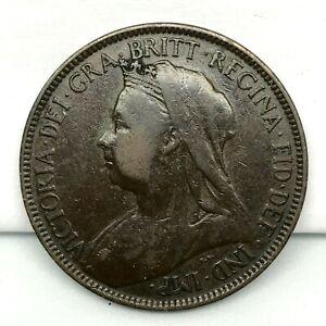 1900-GREAT-BRITAIN-VICTORIA-1-2-PENNY-BRONZE-COIN-KM-789-2