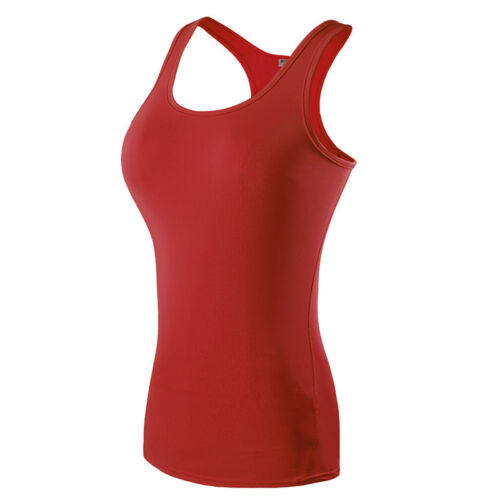 Women Athletic Workout Yoga Compression Vests Sleeveless Tights Sports Tank Top