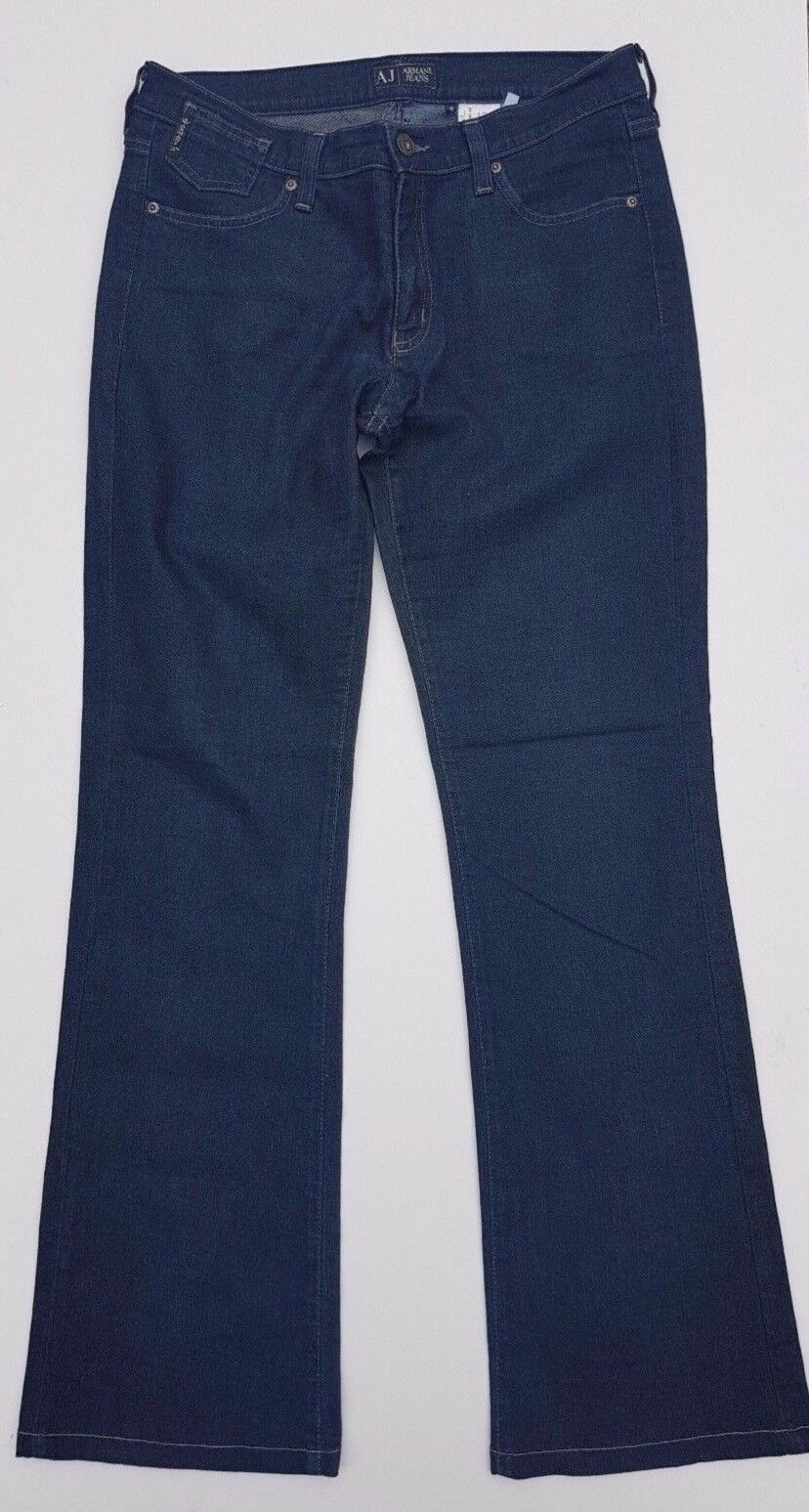 ARMANI COMFORT FIT JEANS SIZE 29 W 40 L Inside L 31 WOMEN'S Eco wash Indigo blueE