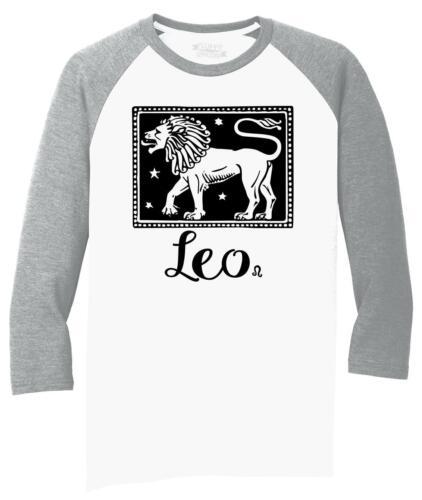 Mens Horoscope Leo 3//4 Triblend Birthday
