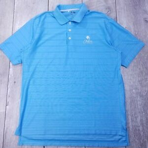 Adidas-Ultimate-ClimaCool-Golf-Polo-Shirt-Mens-Medium-Blue-Short-Sleeve-P36