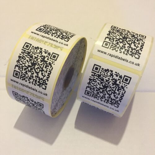 1000 x QR CODE LABELS Scans Directly To Any Web Address