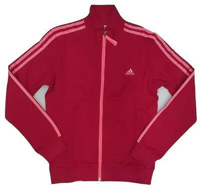 Adidas Women's 3 Stripe Track top Ladies Jacket S13564 Pink | eBay