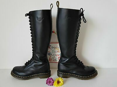 Dr MARTENS UK 4 EU 37 zip 20 eye knee hole black 12270 (1B60) High tall | eBay
