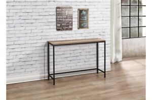 Rustic industrial chic console table metal frame wood finish ebay