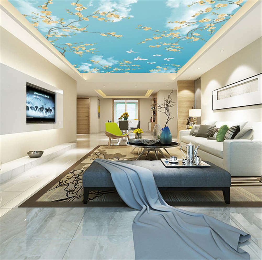Various Gross Plume 3D Ceiling Mural Full Wall Photo Wallpaper Print Home Decor