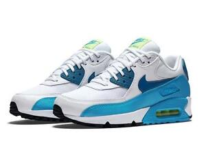 Details about WMNS NIKE AIR MAX 90 ESSENTIAL 616730 029 WHITEGREEN ABYSS BLUE LAGOON VOLT