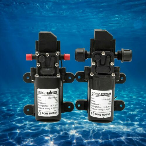 12V 130PSI 6L//Min High Pressure Diaphragm Self-Priming Water Pump Caravan Boat