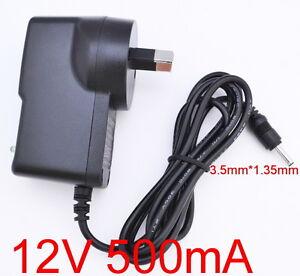 AC 100-240V Converter Adapter DC 12V 500mA 0.5A Power Supply AU 5.5mm x 2.1mm
