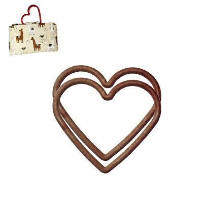 1 Pair of Long Wood Effect Plastic Bag Handles Design Craft S7792 Sewing