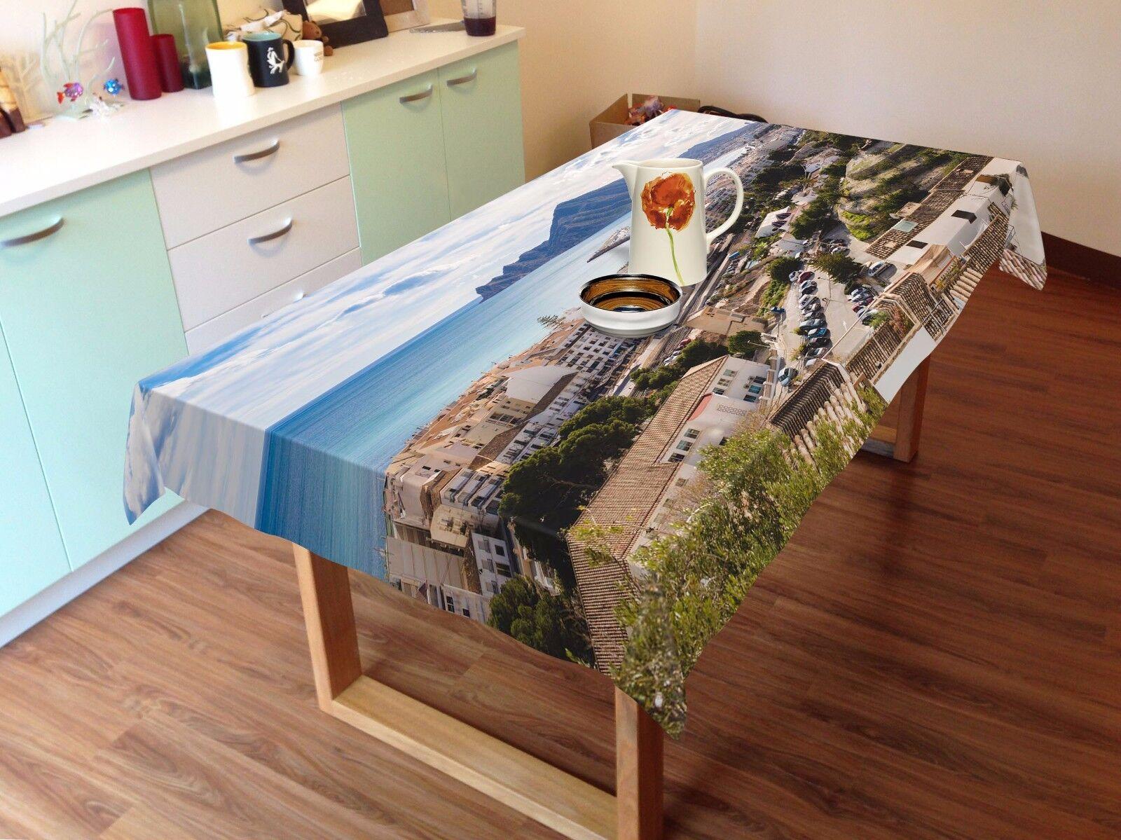 3D ciudad Sky 4 Mantel Mantel Paño Cumpleaños Fiesta AJ Wallpaper Reino Unido Limón