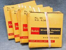 "KODAK WRATTEN 96 ND GELATIN FILTER 2"" SQUARE - YOUR CHOICE - $16.99 EA"