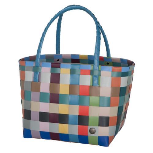 HANDED BY Shopper Paris COLOR MIX Tasche bunt blau Korb geflochten Bag Öko