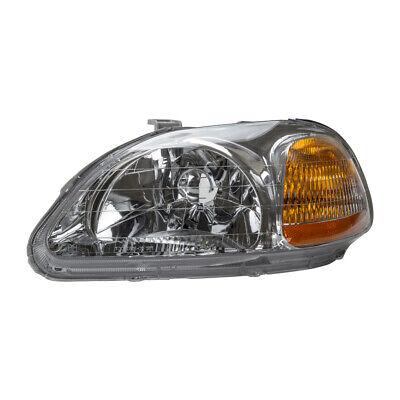 Left TYC NSF Certified Headlight Assembly fits Honda CRV 1997-2001 58SKJK