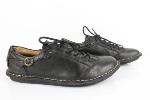 Kickers Derby Shoes Woman Black Leather T 41 Mint