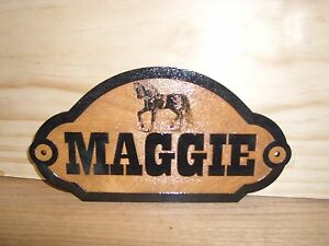 Personalized WOOD Sign.Horse Stall Name.Any text Laser ENGRAVED.GIFT.