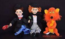 Mary Poppins Mini Bean Bag Plush BERT Orange FOX Lot of 3 Stuffed Animals Disney
