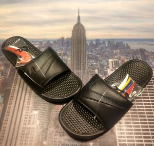 3572343f32f Image is loading Nike-Benassi-JDI-LTD-Slide-Sandal-Interchangeable-Swoosh-