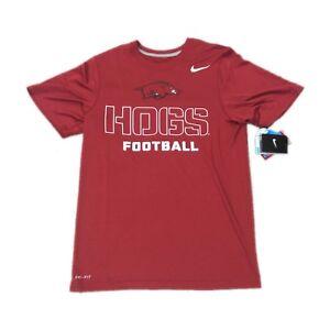a53d2386d630b NWT NEW Arkansas Razorbacks Football Nike Men s Dri Fit Practice ...