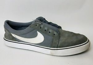 2ca527b7a9e2 NIKE SB SATIRE II Mens 8.5 M 729809 010 Gray Canvas Shoes Leather ...