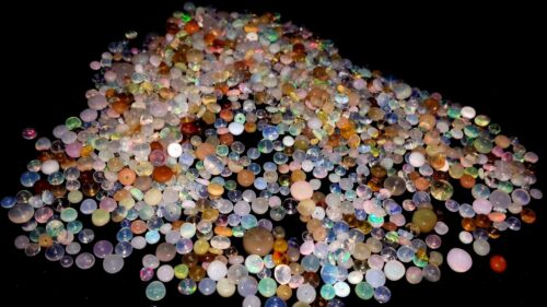 100/% Natural AAA+Certified Opal Weloo Fire Flashing Drilled Loose Beads Gemstone