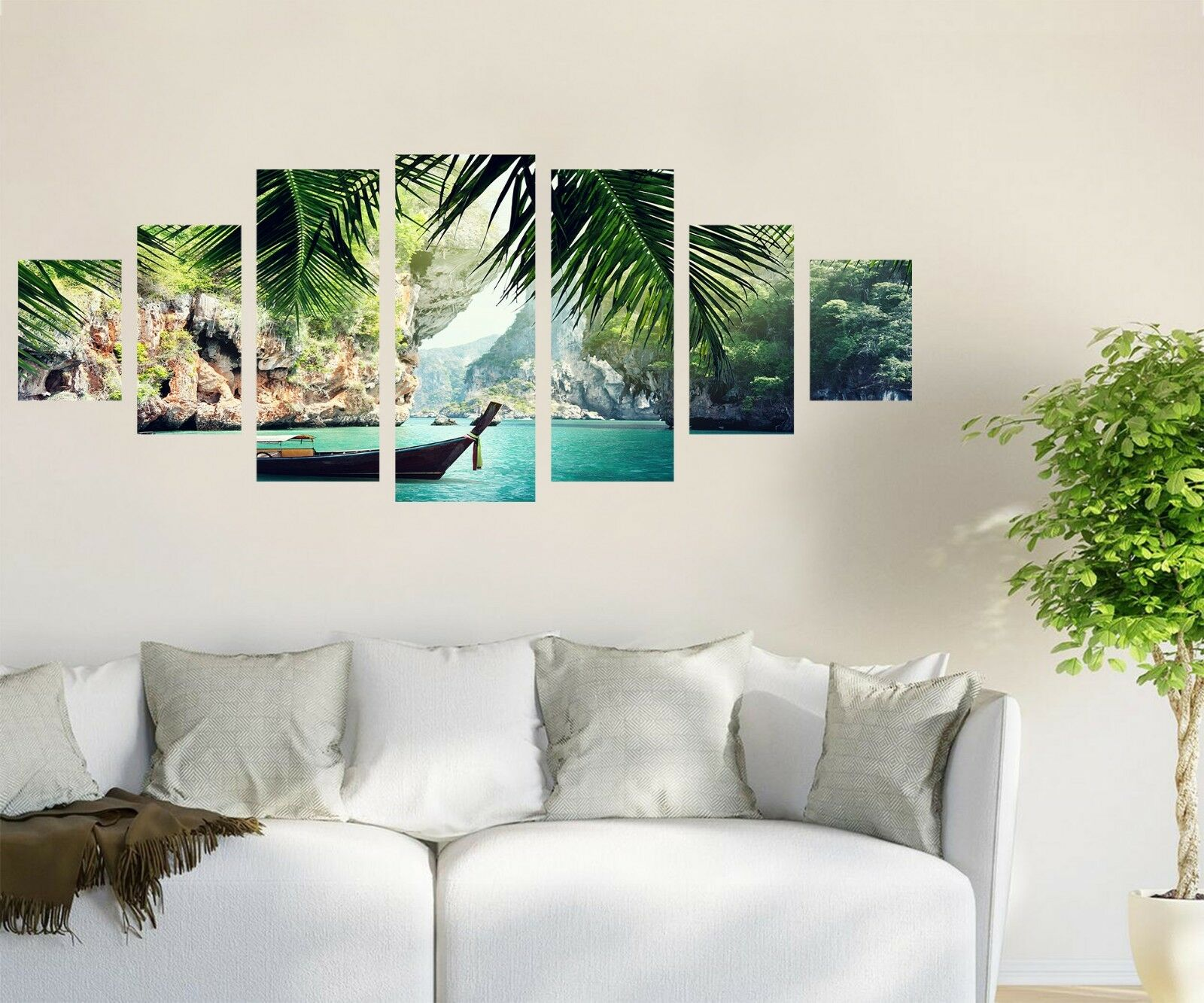 3D Lake Boat 746 Unframed Print Wall Paper Decal Wall Deco Indoor AJ Wall Jenny
